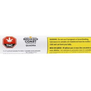 cannabis-BROKEN COAST CANNABIS - Quadra Pre-Roll